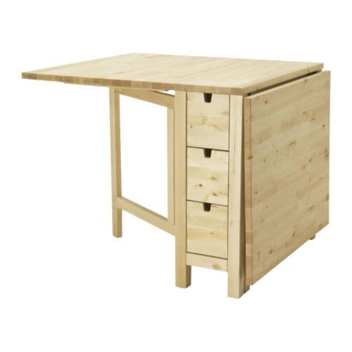 Ikea Esstisch Bjursta Erfahrung ~ NORDEN Gateleg table IKEA You can store flatware, napkins and candles