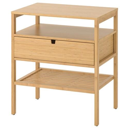 """NORDKISA nightstand bamboo 23 5/8 """" 15 3/4 """" 26 3/4 """""""