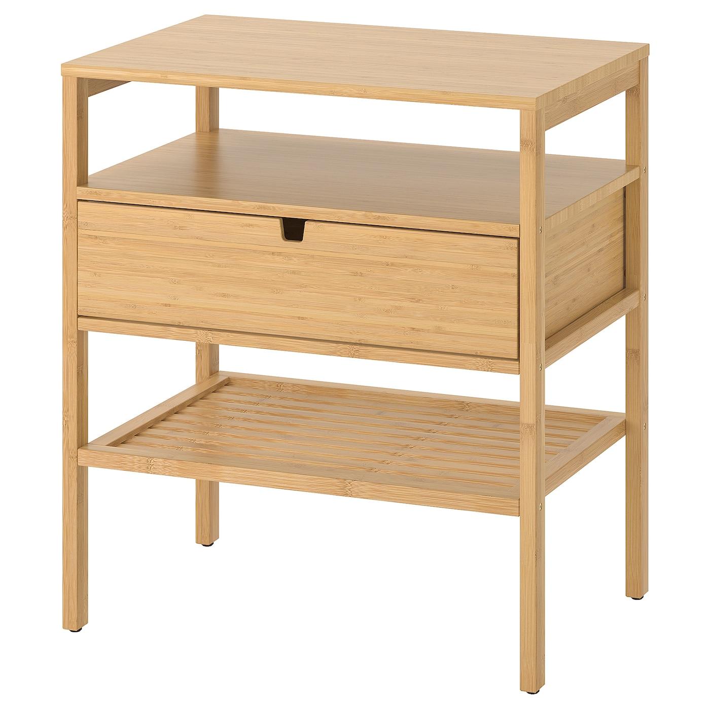 Nordkisa Nightstand Bamboo Width 23 5 8 Ikea
