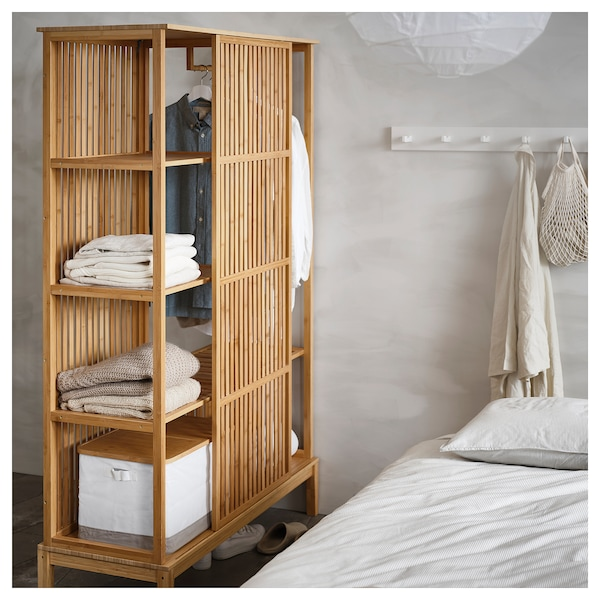 IKEA NORDKISA Open wardrobe with sliding door
