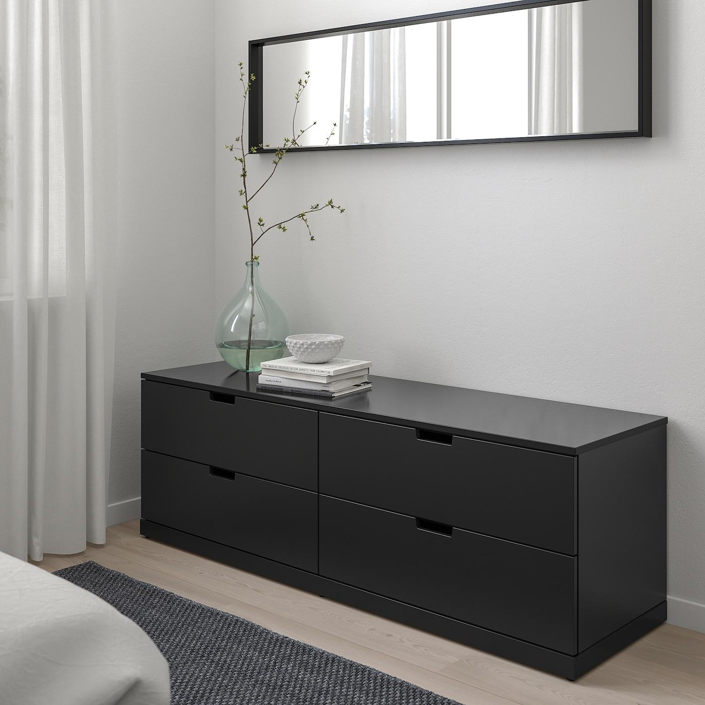 "NORDLI 4-drawer dresser, anthracite, 63x21 1/4 """