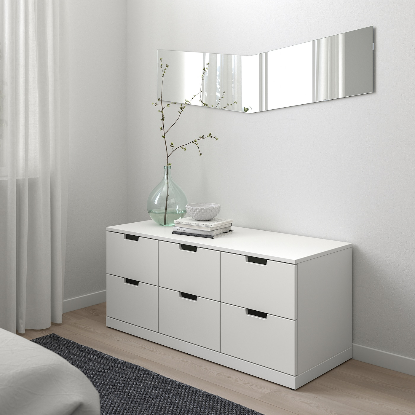 NORDLI 6-drawer dresser, white, 47 1/4x21 1/4 ""