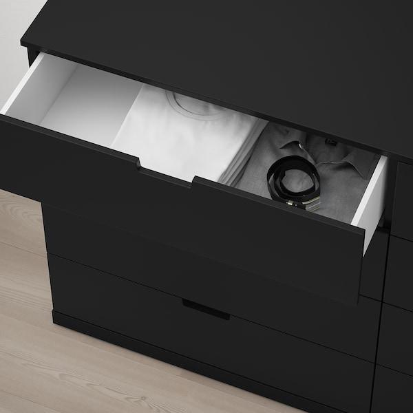 "NORDLI 8-drawer dresser, anthracite, 63x39 """