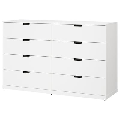 NORDLI 8-drawer dresser, white, 63x39 ""