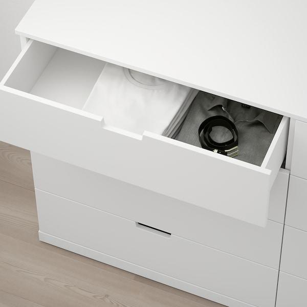 """NORDLI 8-drawer dresser, white, 63x39 """""""