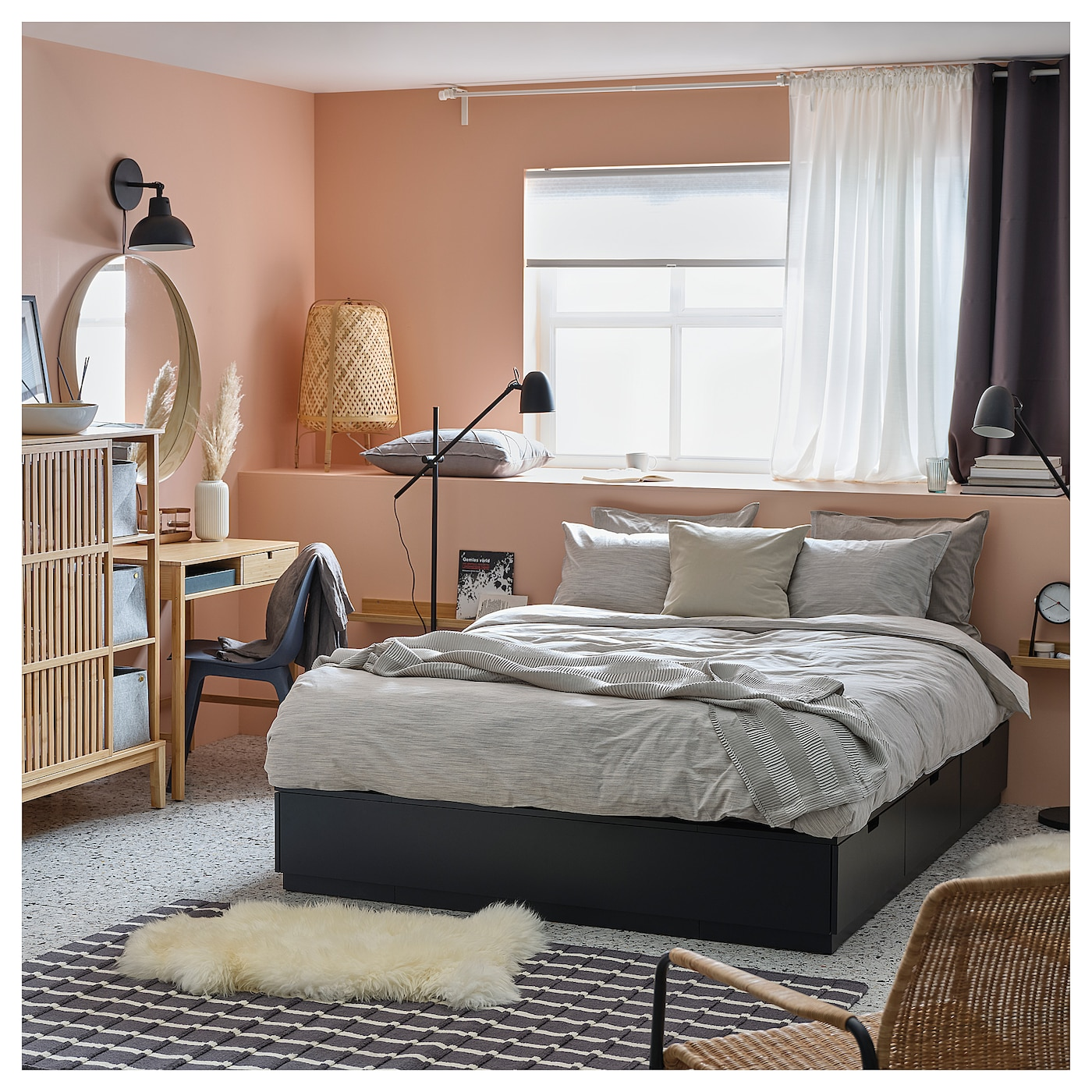 Nordli Bed Frame With Storage Anthracite King Ikea,3 Bedroom Apartments In St Louis