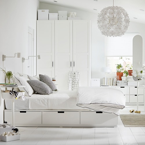 Ikea 2010 Bedroom Design Examples: NORDLI Bed Frame With Storage