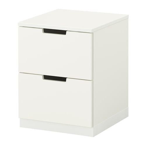 nordli 2 drawer chest white ikea. Black Bedroom Furniture Sets. Home Design Ideas