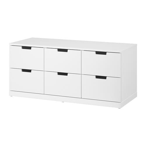 nordli 6 drawer dresser white ikea. Black Bedroom Furniture Sets. Home Design Ideas
