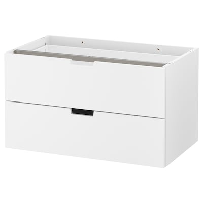 "NORDLI modular 2-drawer chest white 31 1/2 "" 18 1/2 "" 17 3/4 "" 28 3/8 "" 14 5/8 "" 24 lb"
