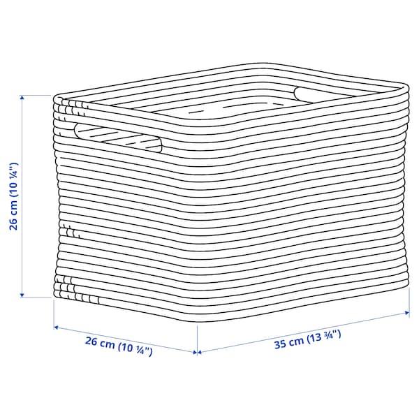 "NORDRANA Basket, blue, 13 ¾x10 ¼x10 ¼ """