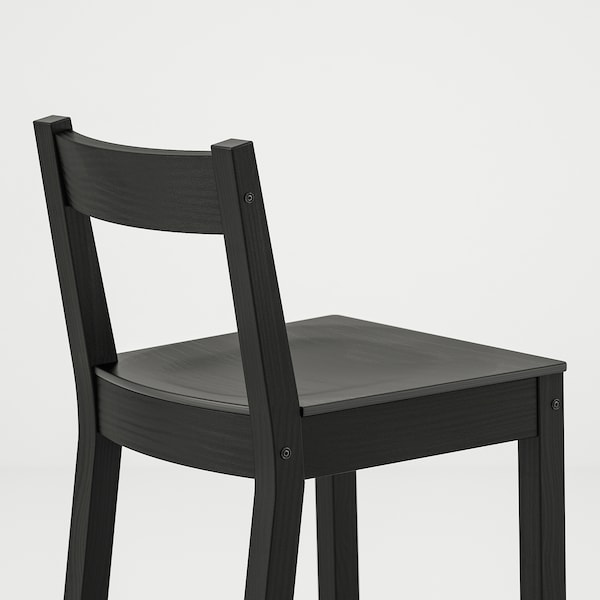 "NORDVIKEN bar stool with backrest black 243 lb 15 3/4 "" 17 3/4 "" 34 5/8 "" 15 3/4 "" 13 3/8 "" 24 3/8 """
