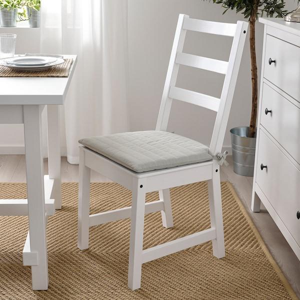 "NORDVIKEN Chair pad, beige, 17/16x17x2 """