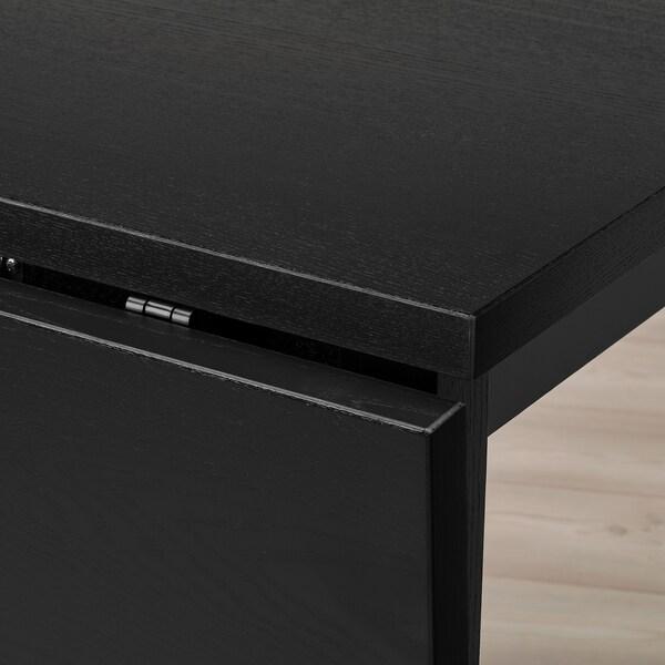 "NORDVIKEN Drop-leaf table, black, 29 1/8/41x29 1/8 """