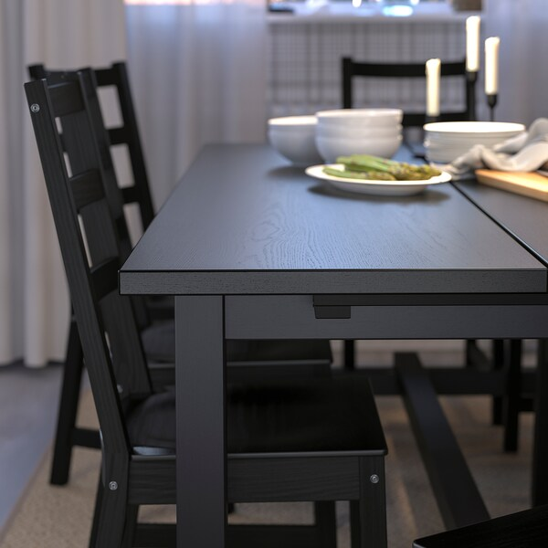 Astounding Table And 6 Chairs Nordviken Nordviken Black Black Machost Co Dining Chair Design Ideas Machostcouk