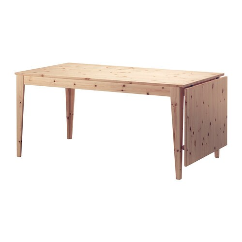 Norn s drop leaf table ikea for Pine desk ikea