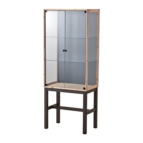 Norn S Glass Door Cabinet With 2 Doors Ikea