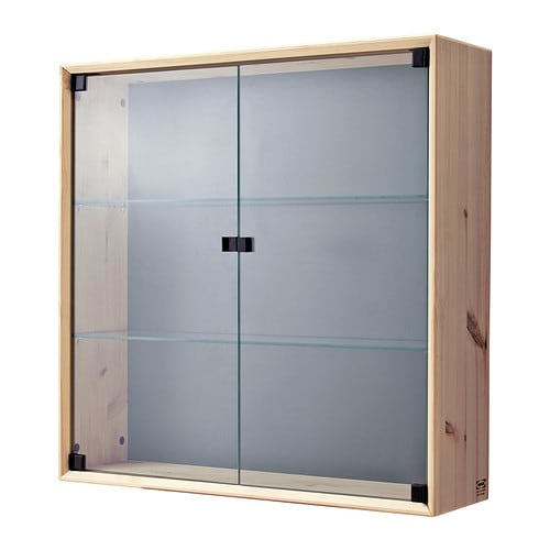 norn s glass door wall cabinet ikea untreated solid pine is a durable