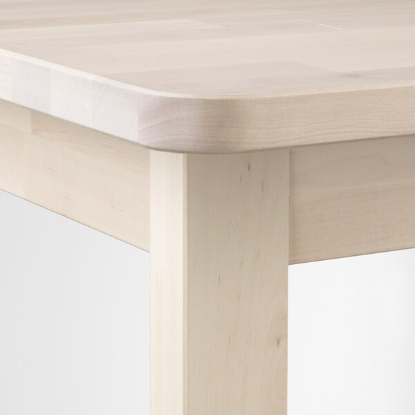 "NORRÅKER bar table birch 29 1/8 "" 29 1/8 "" 40 1/8 """