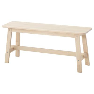 "NORRÅKER bench birch 40 1/2 "" 11 3/8 "" 17 3/4 """
