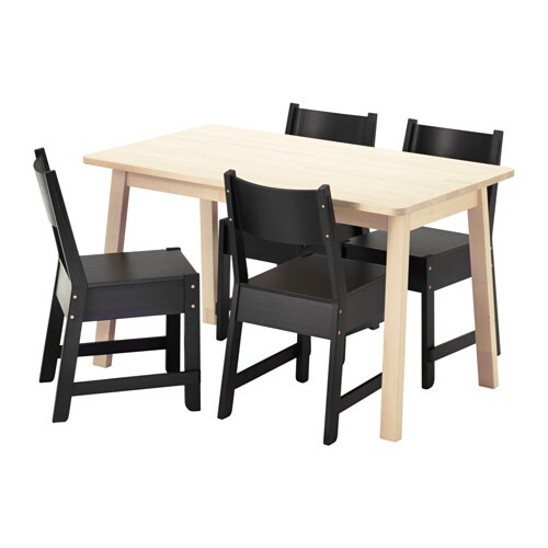 Norr ker norr ker table and 4 chairs ikea for Table exterieur largeur 70
