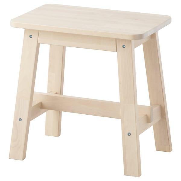 "NORRÅKER stool birch 243 lb 17 3/4 "" 11 3/8 "" 17 3/4 "" 17 3/4 """
