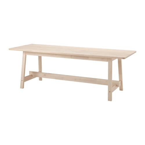 NORRÅKER Table, white birch