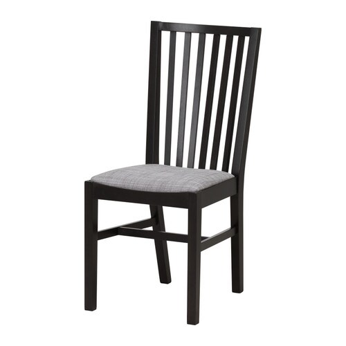 NORRNÄS Chair IKEA Solid beech is a durable natural material.  You sit comfortably thanks to the high shaped back.