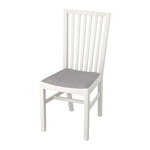 NORRNÄS - Chair, white, Isunda gray
