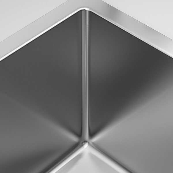 "NORRSJÖN Double bowl top mount sink, stainless steel, 28 3/4x17 3/8 """
