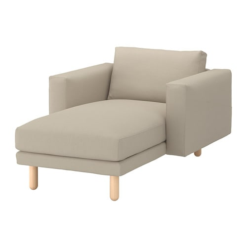 NORSBORG chaise Edum beige birch Width 43 1/4   Depth  sc 1 st  Ikea : ikea sofa chaise lounge - Sectionals, Sofas & Couches