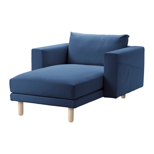 Norsborg chaise cover edum dark blue ikea for Chaise en osier ikea