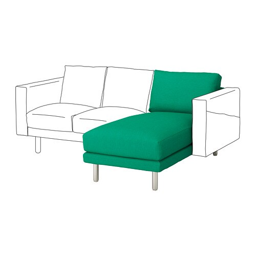 norsborg chaise section edum bright green metal ikea. Black Bedroom Furniture Sets. Home Design Ideas