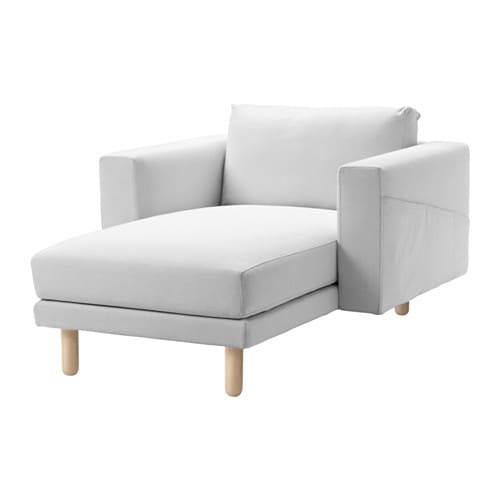 NORSBORG Chaise, Finnsta white, birch Finnsta white birch