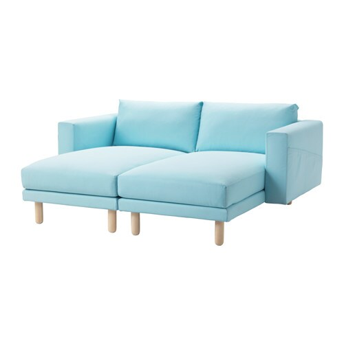 Norsborg 2 chaises edum light blue birch ikea for Chaise en osier ikea