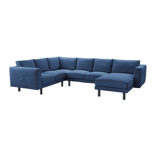 Norsborg corner sofa 2 2 with chaise edum dark blue for Blue sofa with chaise