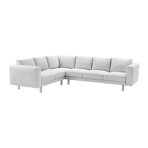 norsborg cover for 5 seat corner sectional finnsta white ikea. Black Bedroom Furniture Sets. Home Design Ideas