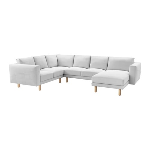 Norsborg cover for 5 seat sectional finnsta white ikea for Chaise 5 5 designers