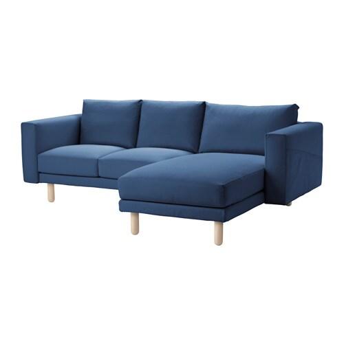 norsborg loveseat with chaise edum dark blue birch ikea. Black Bedroom Furniture Sets. Home Design Ideas
