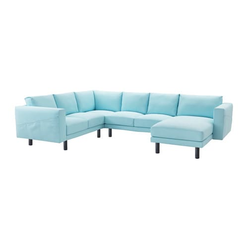 Norsborg loveseat with chaise edum light blue gray ikea for Blue sectional sofa with chaise