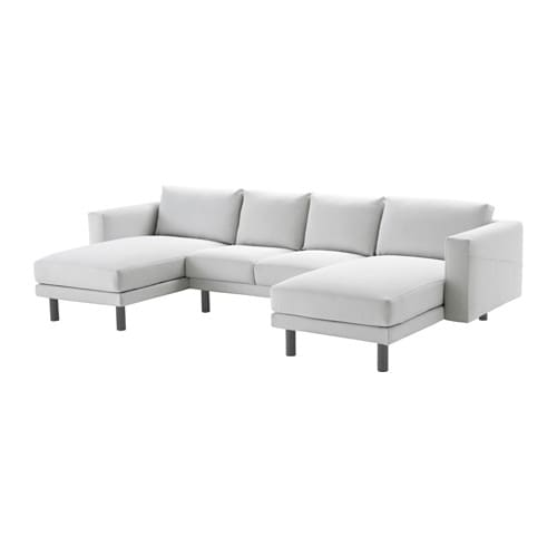 Norsborg loveseat with 2 chaises finnsta white gray ikea for Chaises transparentes ikea