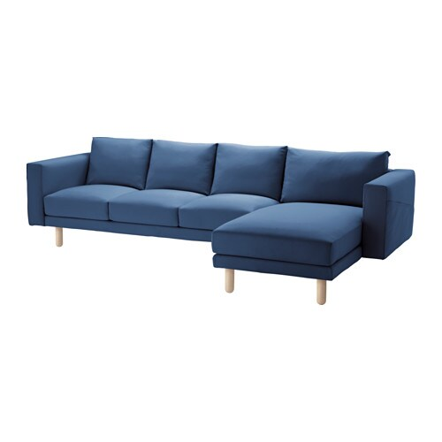 Norsborg sofa and chaise lounge edum dark blue birch ikea Ikea lounge sofa