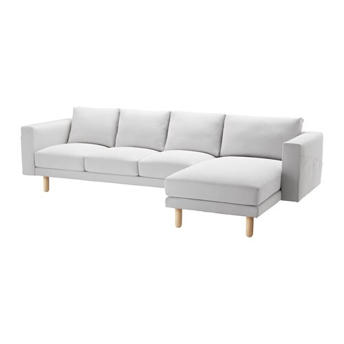 Norsborg sofa and chaise lounge finnsta white birch ikea Ikea lounge sofa