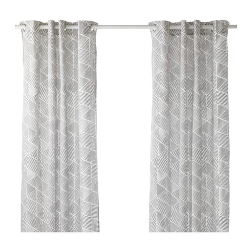 nunnerrt curtains 1 pair ikea the thick curtains darken the room and provide privacy by