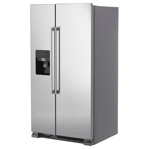 "NUTID S25 side-by-side refrigerator Stainless steel 35 5/8 "" 31 7/8 "" 68 3/4 "" 15.5 cu.ft 9.1 cu.ft 257.94 lb"