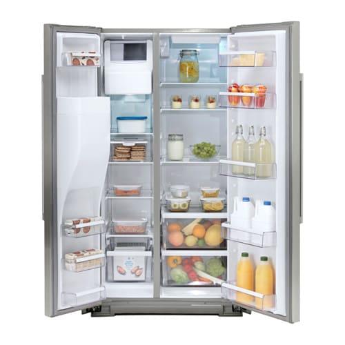 NUTID Side-by-side refrigerator, Stainless steel