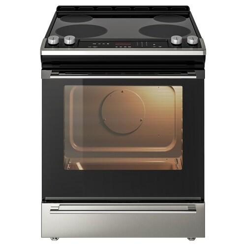 "NUTID slide-in range with ceramic cooktop Stainless steel 29 7/8 "" 31 "" 36 "" 167 lb 9 oz"
