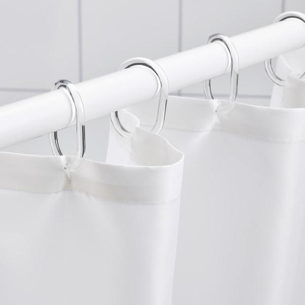 "NYCKELN Shower curtain, white/dark blue, 71x71 """
