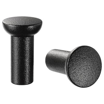 "NYDALA knob black 1 "" 5/8 "" 3/16 "" 2 pack"