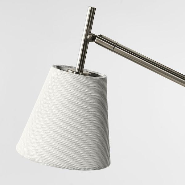 """NYFORS work lamp nickel plated white 5.7 W 400 Lumen 35 """" 8 """" 5 """" 72 """" 5.7 W"""